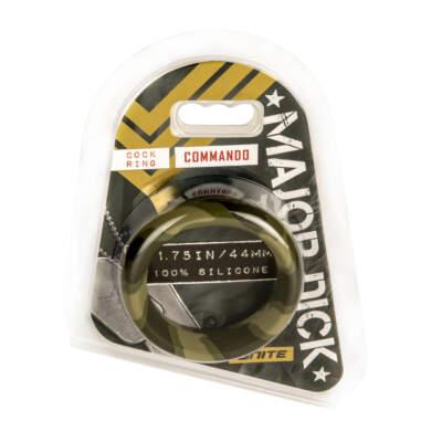 Si Novelties Ignite Major Dick Commando 44mm Cock Ring Green Camo Si21743 752875217433 Boxview