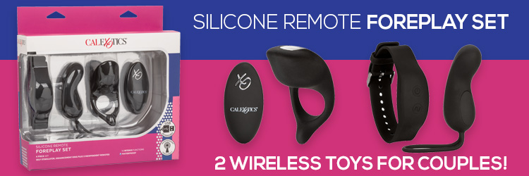 Silicone Remote Foreplay 3 Up Banner