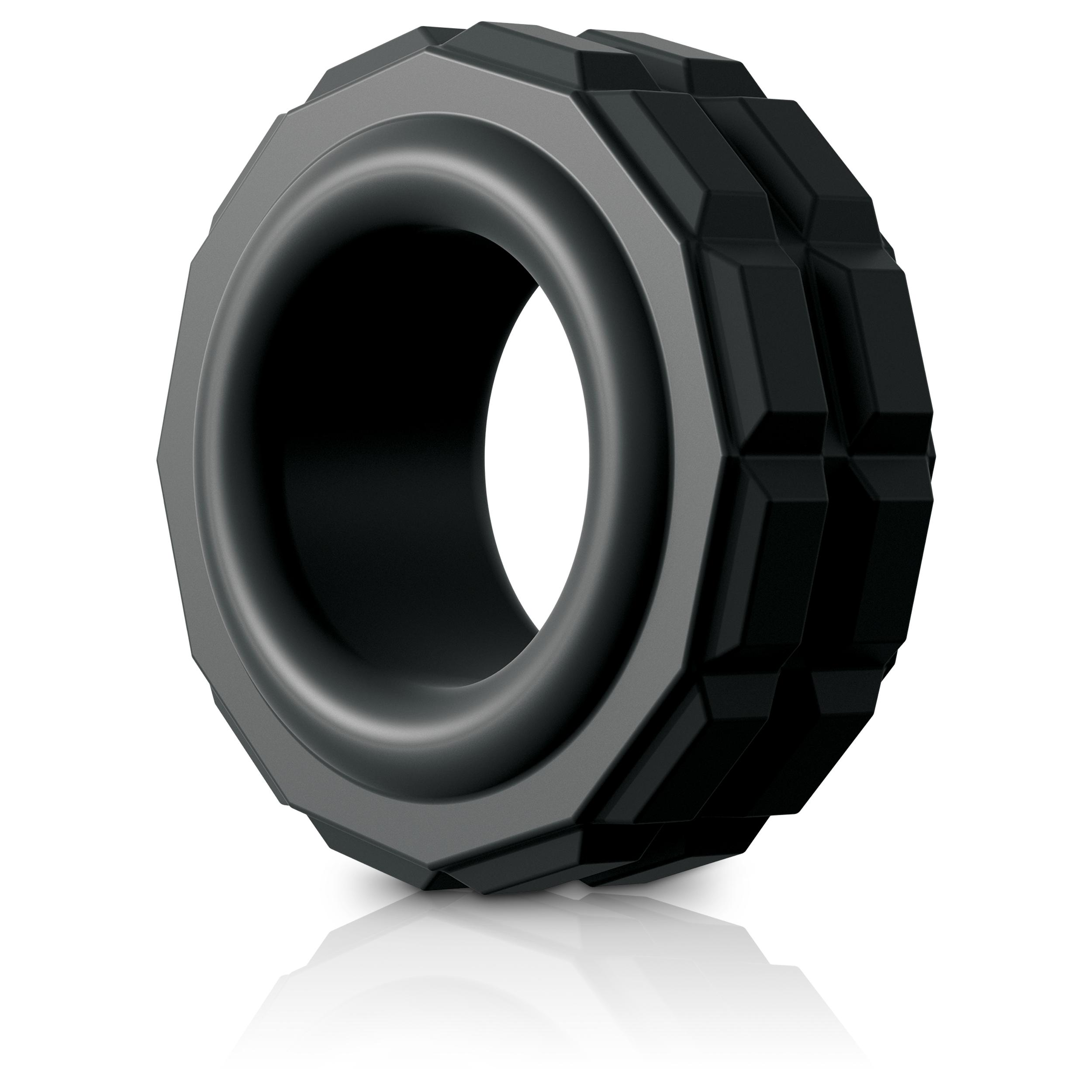 Sir Richards Control High Performance Silicone Ring Cock Ring Black SR1051-01 603912755275