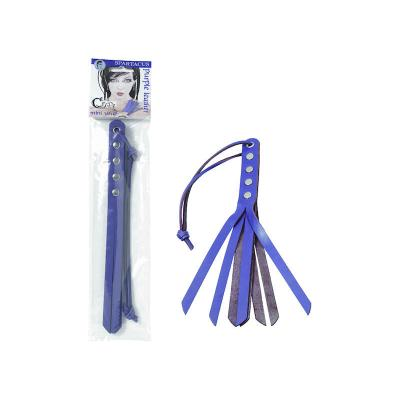 Spartacus Crave 10 Inch Mini Strap Whip Purple Violet BSPL 04CP 669729040249 Multiview