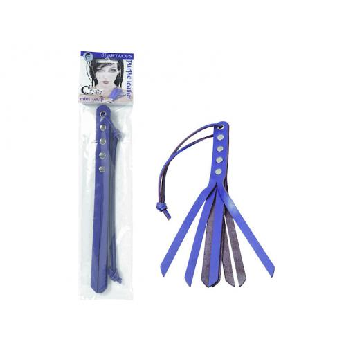 Spartacus Crave 10 Inch Mini Strap Whip Purple Violet BSPL 04CP 669729040249 Multiview