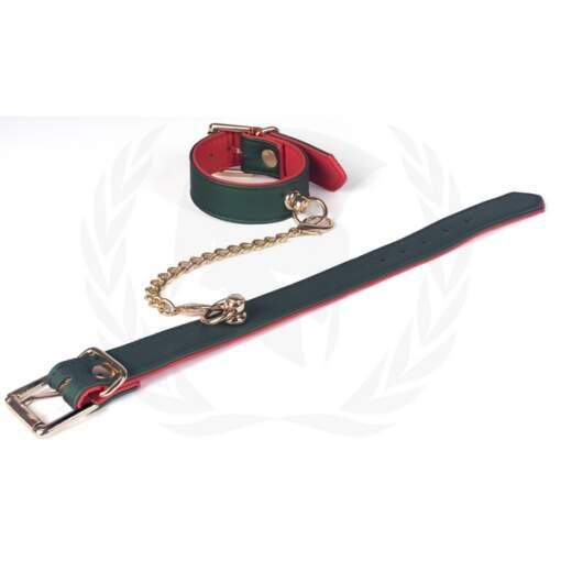 Spartacus Vegan Fetish Beginners Ankle Cuffs Green Red SPU 513 669729000397 Detail