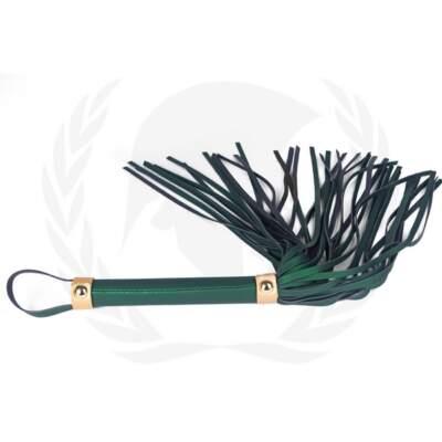 Spartacus Vegan Fetish Flogger Green SPU 507GR 669729000335 Detail