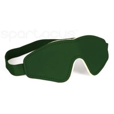 Spartacus Vegan Fetish Plush Lined Blindfold Green SPU 500GR 669729000267 Detail