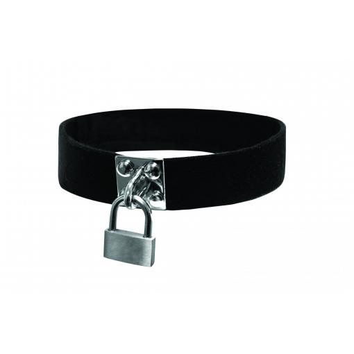 Sportsheets Sex and Mischief Lock and Key Collar Black SS09939 646709099398 Detail