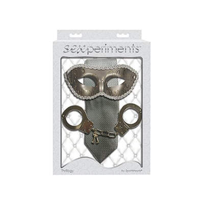 Sportsheets Sexperiments Thrillogy Bondage Kit Silver SS51008 646709510084