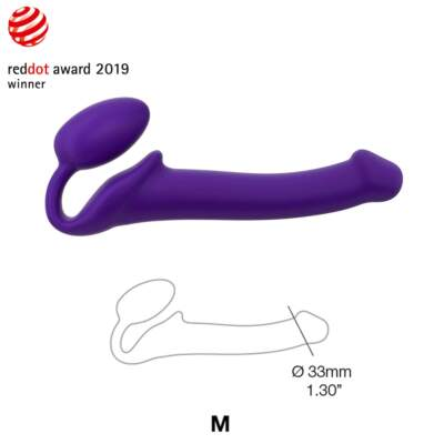 Strap On Me Bendable Silicone Strapless Dildo Medium Purple 6013229 3700436013229 Detail