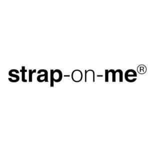 Strap On Me Text Logo Master Black square