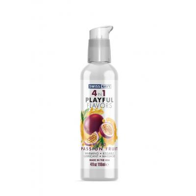 Swiss Navy 4 in 1 Playful Flavours Wild Passion Fruit Flavoured Lubricant 118ml SN4N1FWPF4 699439005573 Boxview