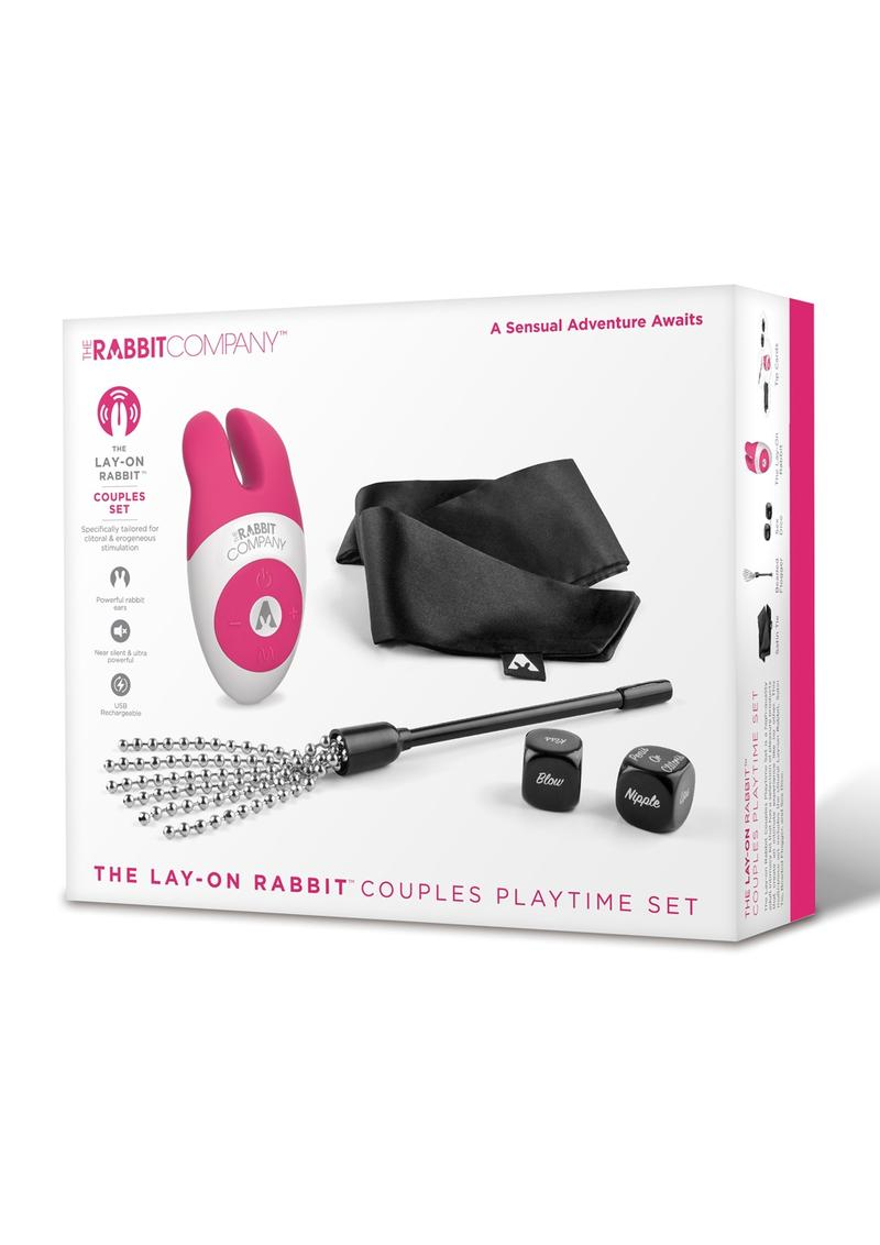 The Rabbit Company The Lay On Rabbit Couples Playtime Set Pink Black TRC-SET-006 4890808213872