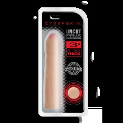 Topco Cyberskin Uncut Penis Transformer 3 inch Penis Extension Flesh 1008537 051021085378