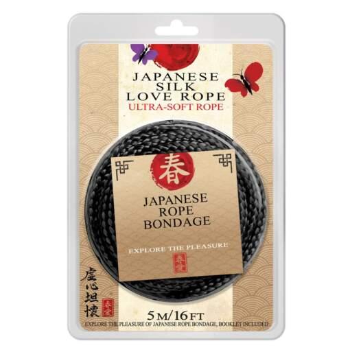 Topco Japanese Silk Love Rope 5 Metre Black 1014896 051021148967
