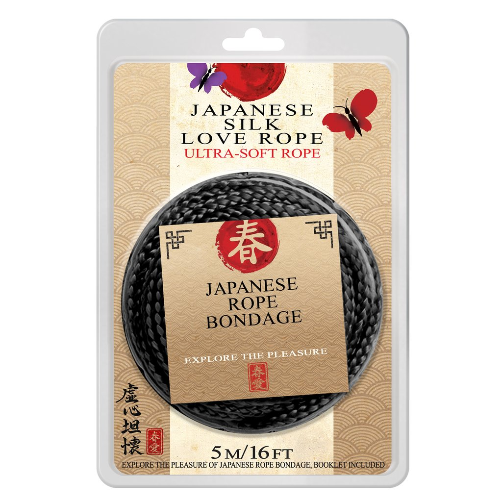 Topco Japanese Silk Love Rope 5 Metre Black 1014896 051021148967