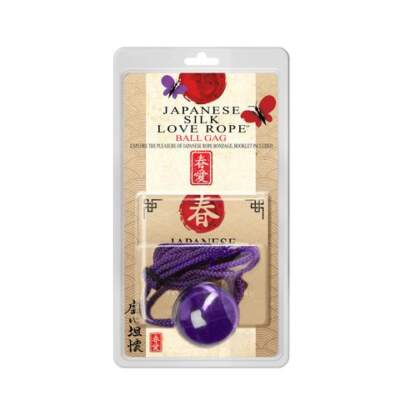 Topco Japanese Silk Love Rope Ball Gag Purple 1014986 051021149865