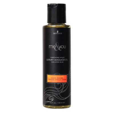 Sensuva Lemon Ginger Orange Vanilla Sugar Massage Oil 125ml VL444A 855559007105