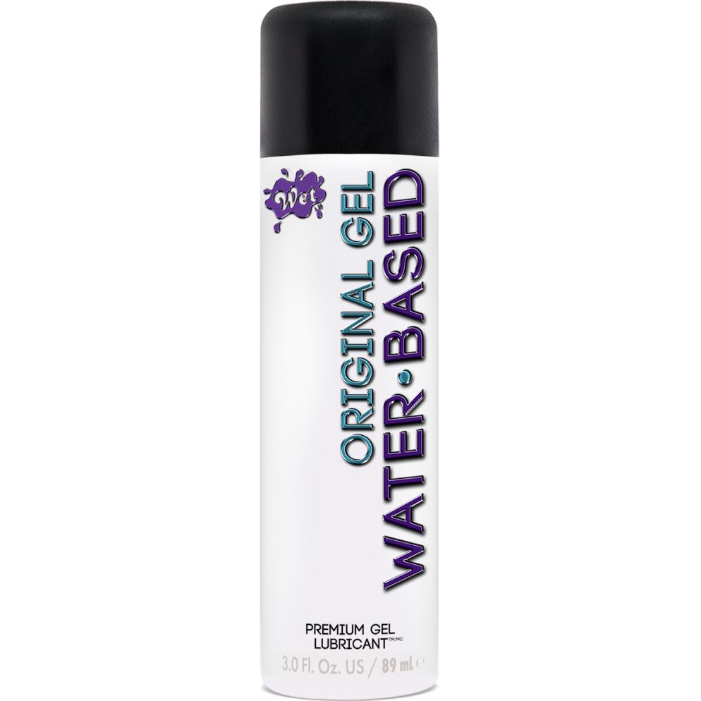 WET Original Water Based Gel Lubricant 89ml 716222203463 Boxview