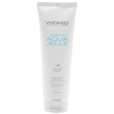 Wicked Simply Aqua Jelle Waterbased Gel Lubricant 120ml 713079911053 Boxview