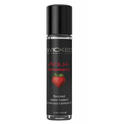 Wicked Strawberry Flavoured Waterbased Lubricant Strawberry 30ml 904116 713079904116