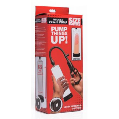 XR Brands Size Matters Trigger Penis Pump 8 Inch AG224 848518034120 Boxview