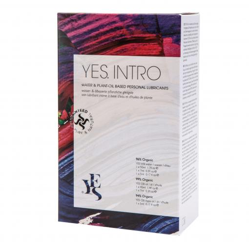 YES Lubricants YES INTRO Water based and Plant Oil Based Personal Lubricants Introduction Pack YIWO 5060104170646 Boxview