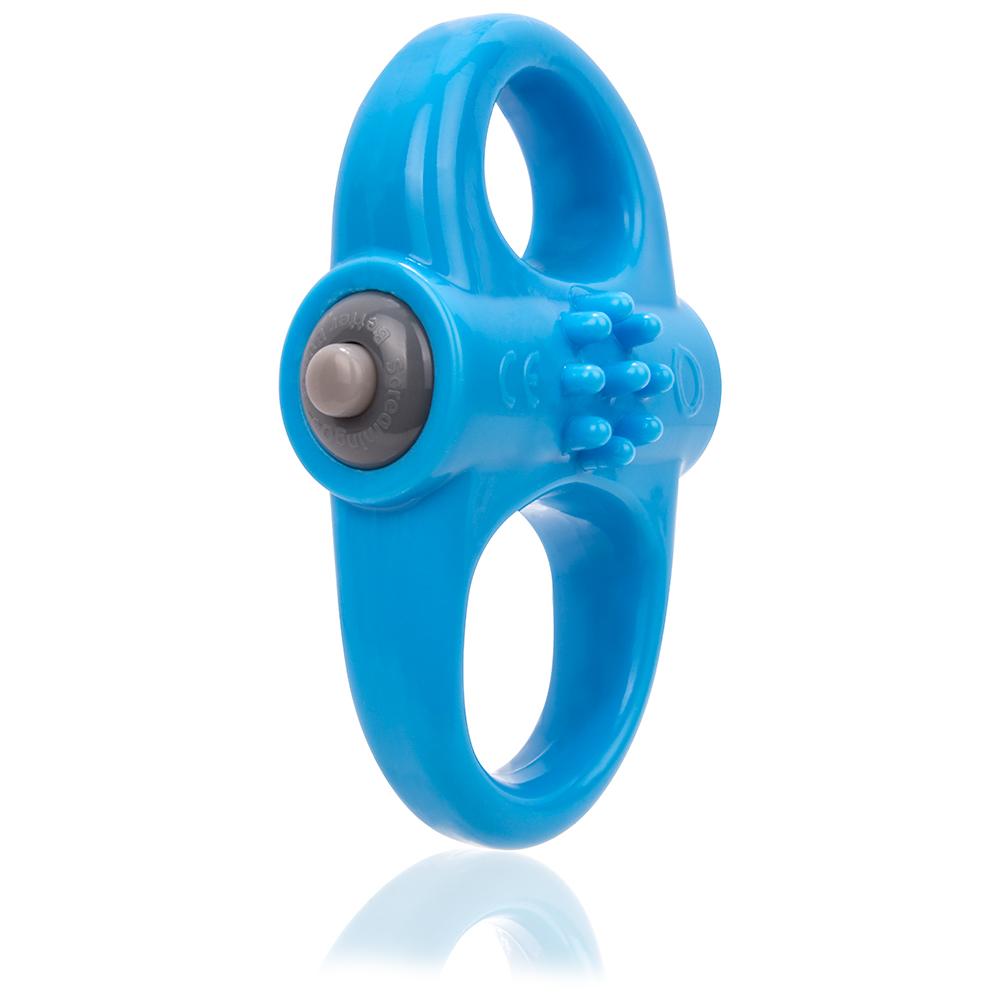Yoga Vibrating Dual Cock Ring Blue