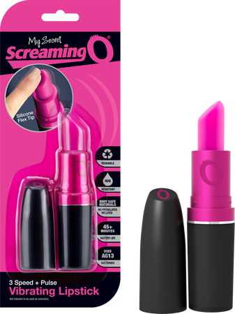 LIP-101 - My Secret Screaming O Vibrating Lipstick - 817483011108