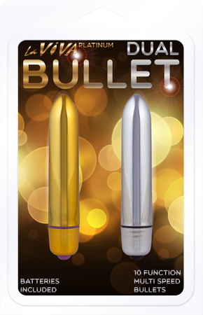 LV20 - Dual Bullet 10 Function (Silver) & (Gold) - 2658497824586