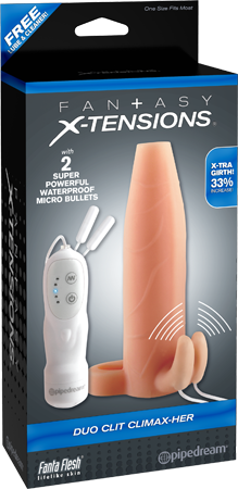 PD4122-21 - Duo Clit Climax-Her (Flesh) - 603912345827