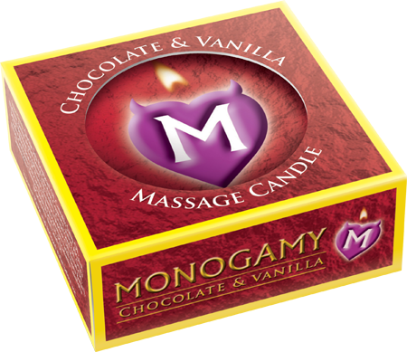 USMMCP25 - Monogamy Massage Candle - Passionate Chocolate & Vanilla Scented - 5037353000796