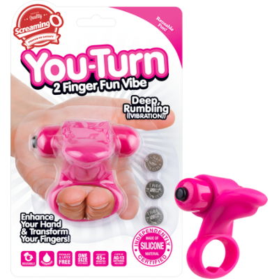 YOU-ST-101 - You-Turn 2 Finger Fun Vibe (Strawberry Color) - 817483012020